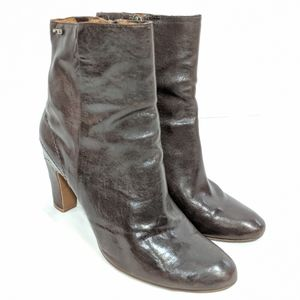 Naked Feet 'Panorama' Brown Ankle Boots